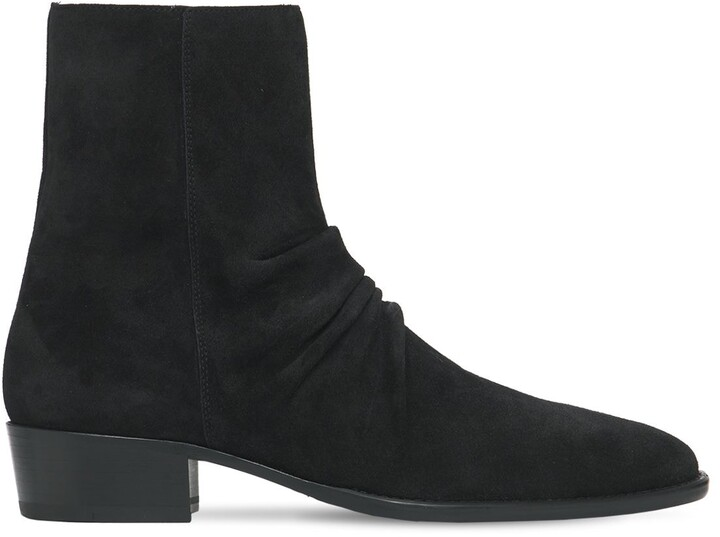 Amiri Skinny Stack Suede Boots