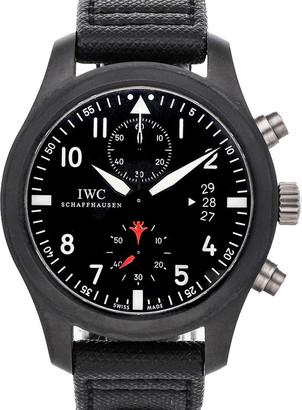IWC Black Ceramic And Titanium Pilot's Watch Top Gun Edition IW3880-01 Men's Wristwatch 46 MM