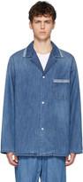 Maison Margiela Blue Denim Pyjama Shirt Jacket
