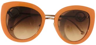 Fendi Orange Plastic Sunglasses