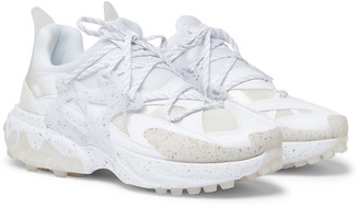 Nike + Undercover React Presto Faux Leather, Rubber, Neoprene And Mesh Sneakers