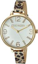 Steve Madden Women's Quartz Gold-Tone and Alloy Casual WatchMulti Color (Model: SMW042G)