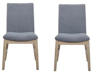 Salvi Side Chairs Denim Blue (Set Of 2) Brayden Studio