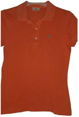 Lacoste Orange Cotton Knitwear