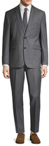 Vince Camuto Wool Sharkskin Notch Lapel Suit