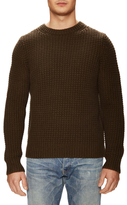 Vince Wool Crochet Crewneck Sweater