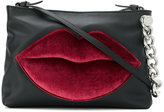 KENDALL + KYLIE Kendall+Kylie lips embroidered shoulder bag