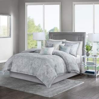 Nobrand No Brand 7pc Karlene Cotton Sateen Comforter Set Gray