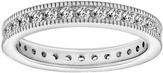 Diamonique 1.10 cttw Round Eternity Band Ring,Platinum Clad
