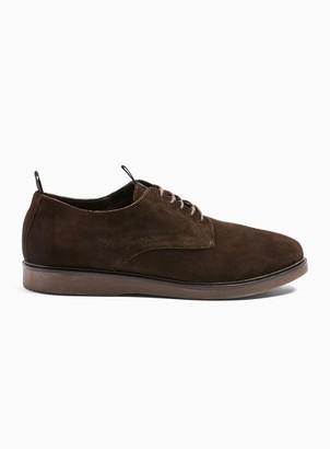 Hudson TopmanTopman Brown Real Suede Barnstable Derby Shoes