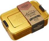 CB2 Gentlemen's Hardware Gold Lunch Box Tin