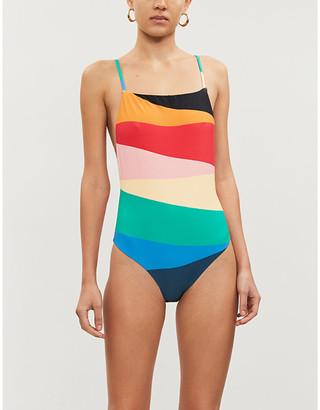 Billabong X Sincerely Jules Fiesta colour-blocked swimsuit