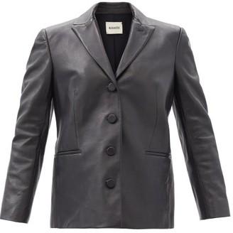 KHAITE Joan Single-breasted Leather Jacket - Black