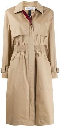 Victoria Beckham Cinched Waist Trench Coat