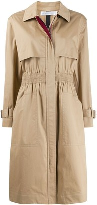 Victoria Beckham cinched waist trench coat