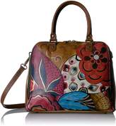 Anuschka ANNA BY HANDPAINTED ORGANIZER SATCHEL, TRIBAL POTPOURRI Shoulder Bag