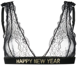 DSQUARED2 Happy New Year lace bra