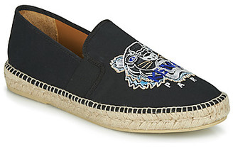 Kenzo ESPADRILLE ELASTIQUE TIGER HEAD men's Espadrilles / Casual Shoes in Black