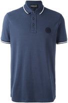 Emporio Armani logo patch polo shirt - men - Cotton - L