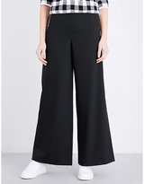 Maje Parif wide high-rise crepe trousers