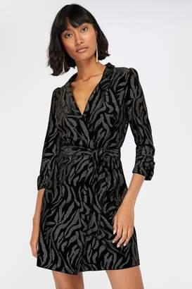 Monsoon Womens Black Nadia Nailhead Velvet Blazer Dress - Black