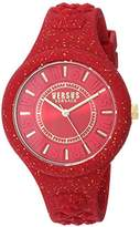 Versus By Versace Women's 'FIRE ISLAND GLITTER' Quartz Stainless Steel and Silicone Casual Watch