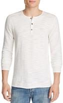John Varvatos Pintucked Henley Sweater