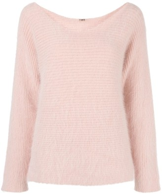 Adam Lippes Fluffy Scoop Neck Jumper
