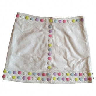 Moschino White Leather Skirt for Women