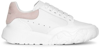 Alexander McQueen Court white and patchouli sneakers