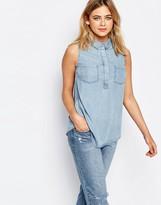 Oasis Sleeveless Denim Shirt