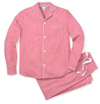 Petite Plume Men's Mini-Gingham Pajama Set
