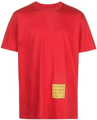 Supreme slogan detail T-shirt
