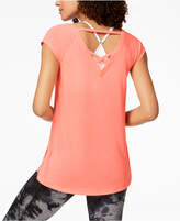 Calvin Klein Cap-Sleeve Strappy-Back T-Shirt