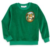 Mini Rodini Toddler Boy's Fox Patch Velour Sweatshirt