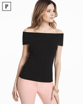 White House Black Market Petite Off-the-Shoulder Bandage Pullover Sweater