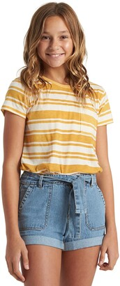 Billabong Kids' Mini Soul Babe Stripe Pocket T-shirt