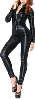 Leg Avenue Wet Look Zipper Front Cat Suit