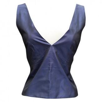 Sonia Rykiel Blue Silk Top for Women Vintage