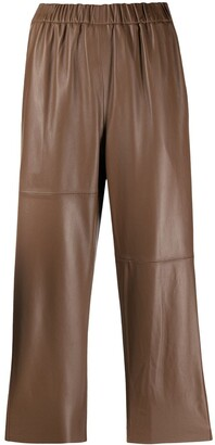 MM6 MAISON MARGIELA Cropped Leather Trousers