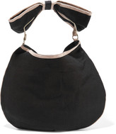 RED Valentino Faux leather-trimmed canvas shoulder bag
