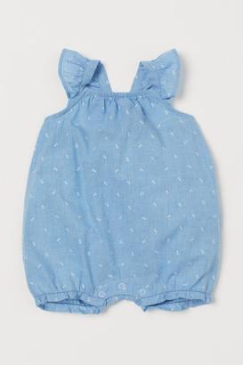 H&M Sleeveless Cotton Romper Suit - Blue