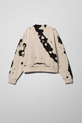 Weekday Amaze Printed Sweatshirt - Black