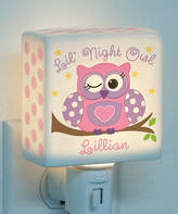 Pink Lil' Night Owl Personalized Night-Light