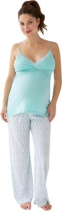 Belabumbum Women's Maternity Ondine Nursing Cami & Pant Set
