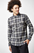 Hurley Cortez Plaid Flannel Long Sleeve Button Up Shirt