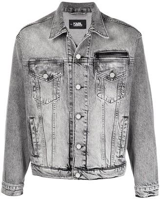 Karl Lagerfeld Paris Rear Logo Denim Jacket