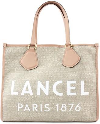 Lancel Pink And Jute Summer Bag