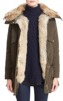 Moncler Women's 'Margarita' Down Jacket With Removable Genuine Coyote Collar And Rabbit Fur Vest