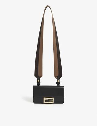 Fendi Flat baguette mini leather bag